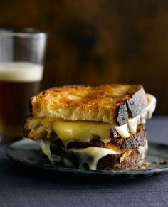 gooey grilled cheese.
