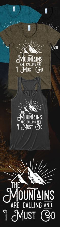Do you love mountains?! Check out this awesome Mountains t-shirt you will not find anywhere else. Not sold in stores and only 2 days left for free shipping! Grab yours or gift it to a friend, you will both love it