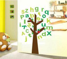 Combo Alphabet (ABC) Tree Kid's Baby Nursery Wall Stickers Home Decor WallPaper #ZNU #TreeComboABC