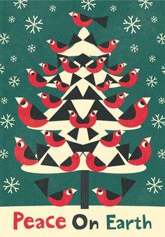 25 Birds on Christmas Day - amazing illustrations