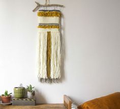 Totem / / woven wall hanging / / tapestry weaving by totembypoppy