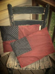 i want to recover our huge floor pillows like this! images of americana primitive decor