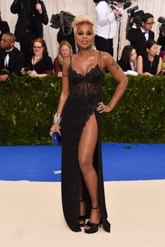 Mary J. Blige in La Perla Met Gala 2017 Red Carpet Live: All the Celebrity Dresses and Fashion