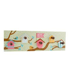Take a look at this 'Keys' Wooden Bird House Hooks by Container Group Buying on #zulily today!