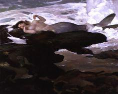 Mermaid by Jeff Jones Erik Johnson, Jeff Jones, Mermaid Art, Siren Mermaid, Fantastic Art, Pictures To Paint, Comic Artist, Watercolor Illustration, All Art