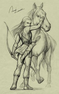 character (c) Tolkien Young Legolas Legolas And Thranduil, John Howe, Jrr Tolkien, Middle Earth, Lord Of The Rings, Narnia, The Hobbit, Amazing Art, Awesome