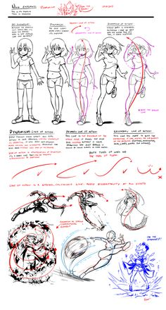 Nsio explains: Dynamism by Nsio ★ || CHARACTER DESIGN REFERENCES キャラクターデザイン  • Find more at https://www.facebook.com/CharacterDesignReferences & http://www.pinterest.com/characterdesigh and learn how to draw:  bandes dessinées, dessin animé, çizgi film #conceptart #animation #toons #manga #historieta #strip #settei #fumetti #anime #cartoni #animati #comics from the art of Disney, Pixar, Studio Ghibli and more || ★