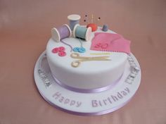 Pin Sewing Cake Photo Little Sew02jpg Cake on Pinterest