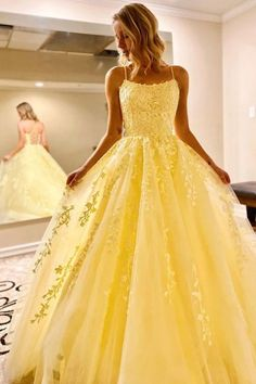 Stylish Backless Yellow Lace Long Prom Dresses Backless Yellow Formal Dresses, Open Back Yellow Lace Evening Dresses Yellow Formal Dress, Winter Formal Dresses, Formal Prom, Formal Evening Dresses, Dress Formal, Dress Winter, Yellow Prom Dresses, Yellow Evening Gown, Dress Black