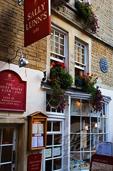 Sally Lunn's House.  The oldest house (c.1842) and best tea shoppe in Bath, England.  Had high tea here!
