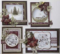 Creative Mayhem: Christmas Cards the Heartfelt Creations Way (christmas photos cards) Stamped Christmas Cards, Homemade Christmas Cards, Christmas Cards To Make, Xmas Cards, Homemade Cards, Handmade Christmas, Holiday Cards, Christmas Crafts, Felt Christmas