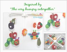 Baby Crib Mobile The Very Hungry Caterpillar Inspired by LincKids