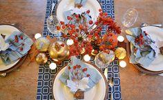 Table decor - painted pumpkins