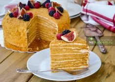 Медовый торт Рыжик Honey Cake, Waffles, Sweets, Breakfast, Recipes, Food, Kitchen, Recipe, Bakken
