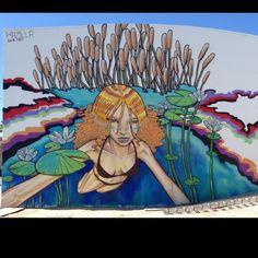 "KAZILLA @kazillathevanillagorilla ""freshwater spring"" wall in west palm beach. '14"