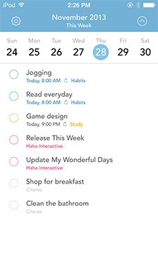 This Week - To-do app on a weekly basis ios ios7 app iphone