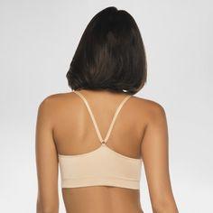 Annette Women's Silky Like Seamless Non-wire Bra - Beige XL