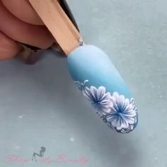 Purple Nail Art, Rose Nail Art, Floral Nail Art, Pretty Nail Art, Nail Art Designs Videos, Nail Art Videos, Simple Nail Art Designs, Acrylic Nail Designs, Nail Art Hacks