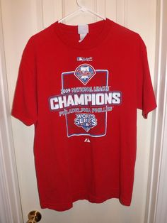 Phillies 2009 National League Championship Shirt - Large - L - Red from   2.5 e531d933e