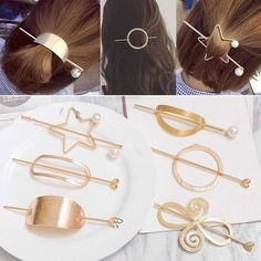 clips pferdeschwanz null geometrische spangen ovale haar frisur clips