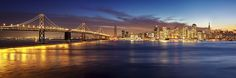 San Francisco Christmas Lights from Yerba Buena Island by photofanman
