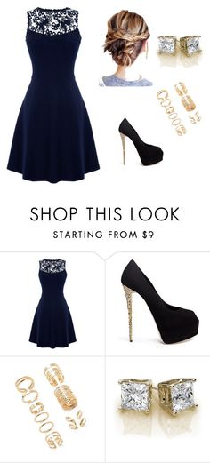 """""""Untitled #13"""" by gisellecisneros-1 ❤ liked on Polyvore featuring Warehouse, Giuseppe Zanotti and Forever 21"""