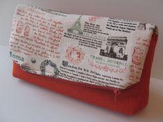 clutch light bag small bag  tangerine orange and by LIGONbyRuthi, $35.00