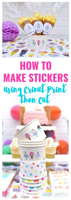 How to make stickers using Cricut print then cut feature. So awesome!