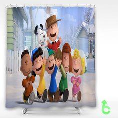 Cheap Cartoon Movie Peanuts Shower Curtain