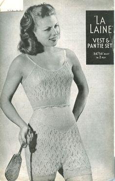 Mmmm knitted underwear. That must be... erm... an interesting feeling.