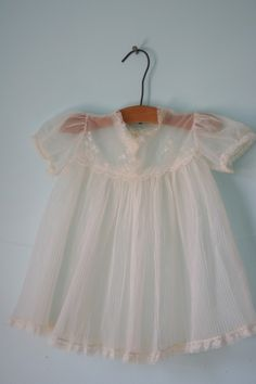 Vintage Sheer Dainty BABY DRESS. I just died. Cutest thing in the entire world, besides my baby of course.
