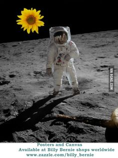 Astronaut with Sun Flower