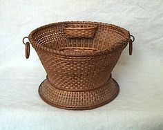 Antique Shaker sewing work basket, two boats - Shaker fancy goods.