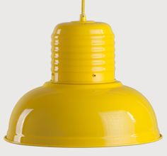 Jackson Pendant Light in gloss yellow £59 | made.com #LetsColour for the grey/gold/mustard lounge theme