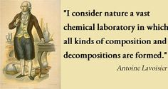 """I consider #nature a vast# chemical #laboratory in which all kinds of #composition and #decompositions are formed."" Antoine #Lavoisier http://on.fb.me/1rDKppy"