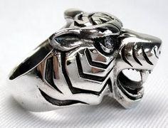 Japanese Rings for Men | Tiger Rings, 925 Sterling Silver Tiger Ring for Men