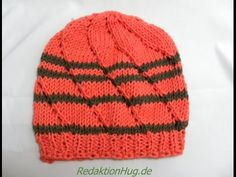 Knooking two color beanie (German)