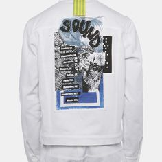 Denim Jacket with Poster Print - SHOWstudio