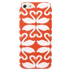 Stop staring at me, SWAN!  Mobilexpressions Swans Case for iPhone®5 - Orange (ME2012)