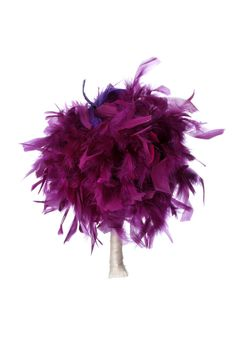 Purple Feather Bouquet Bridal Bouquet Feather by DecoraMood, $38.00 #DBBridalStyle   Pretty sure I'm going with this and adding a white flower or two.