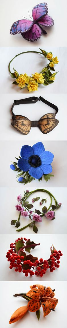 Amazing hand felted accessories and jewelry by Juli-world