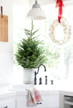 loving the tree in the wood bucket.