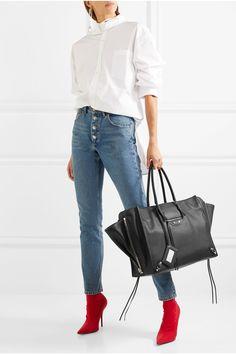 Balenciaga   Paper ZA A4 textured-leather tote   NET-A-PORTER.COM