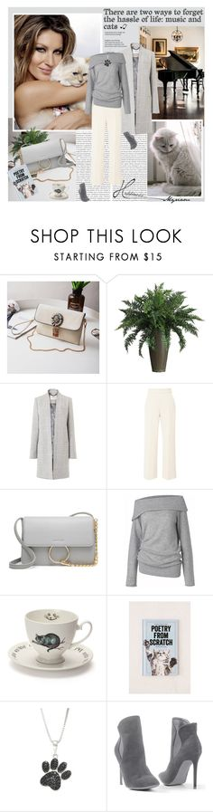 """There are two ways to forget the hassle of life: music and cats"" by lovemeforthelife-myriam ❤ liked on Polyvore featuring Nearly Natural, L.K.Bennett, Delpozo, Care By Me, Mrs Moore, Urban Outfitters, Diamond Classics and Venus"