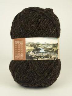 Natural Black Aran Wool #knitting #knit #wool #handknitting #newlanark #scotland #scottish #aran #100%wool #purewool