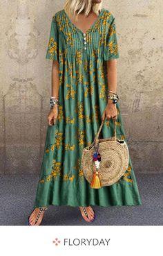 Buy Dresses, Online Shop, Fashion Dresses For Sale - Floryday - Womens Fashion - hadido Women's Fashion Dresses, Boho Fashion, Casual Dresses, Summer Dresses, Womens Fashion, Affordable Dresses, African Print Fashion, Mode Inspiration, African Dress