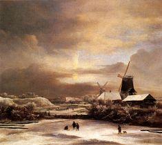 """All Things Bright and Beautiful: Jacob von Rueysdale - Het werk van Van Ruisdael is geen directe weergave van de werkelijkheid. De landschappen zijn poëtischer, imposanter en dramatischer dan in werkelijkheid en zijn nauwkeurig gecomponeerd. De schilderijen zijn 'uyt den gheest' geschilderd, omdat het ten eerste technisch nog niet mogelijk was om buiten het atelier te schilderen (de tubeverf zou immers pas enkele eeuwen later worden """"uitgevonden"""")"""