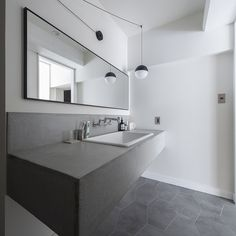 Washroom, Lamp Design, Double Vanity, House Design, Mirror, Interior, Furniture, Home Decor, Space
