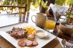 Gallo Pinto - Costa Rica's typical breakfast @ Tikivillas Rainforest Lodge, Costa Rica
