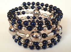 Sleek and Classy Navy and Silver Custom by PeacocksandLeopards, $26.00